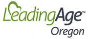 Logo for LeadingAge Oregon. Timberhill Place is a member of LeadingAge Oregon.