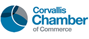 Logo for the Corvallis, Oregon, Chamber of Commerce. Timberhill Place is a member of the Corvallis Chamber.